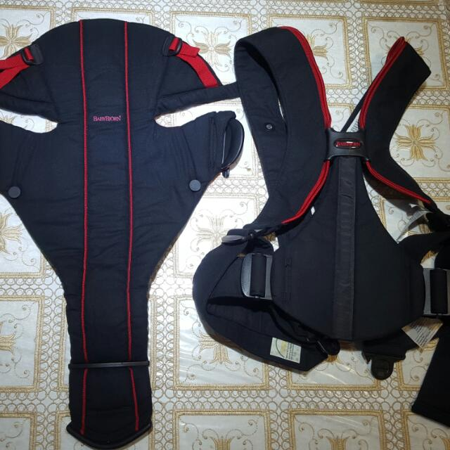 ea9441347d5 Preloved BabyBjorn Baby Carrier Active - Black Red