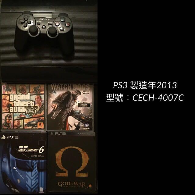 PS3 500G 少玩 2隻把手