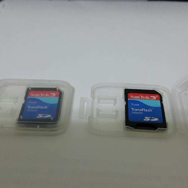 全新盒裝SanDisk 記憶卡轉接卡(MicroSD) 小轉大 TF卡 SD卡 附透明盒