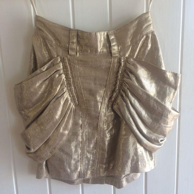 Sass And Bide Gold Dress