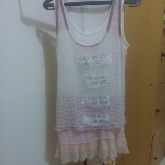 Tanktop Harajuku 2 Layers #preloved