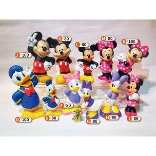 Disney 迪士尼 歐版/美版 大型軟膠公仔 - 米奇 米妮 唐老鴨 黛絲 洗澡玩具