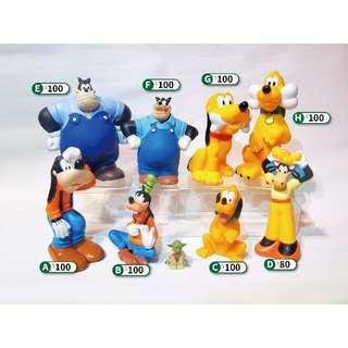 Disney 迪士尼 歐版/美版 大型軟膠公仔 - 高飛 布魯托 洗澡玩具