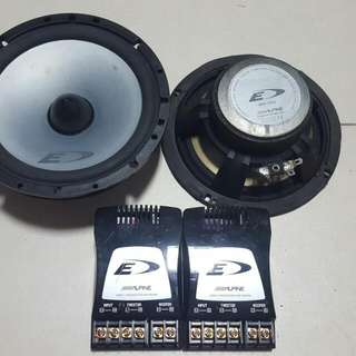 """Alpine 6.5"""" Speakers With 2 way Crossover (Used)"""