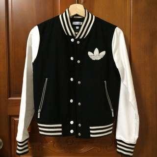 待匯款)愛迪達Adidas棒球皮革羊毛外套 正版