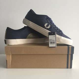 Fred Perry Kendrick Tipped Cuff Coated Canvas/ Shoes