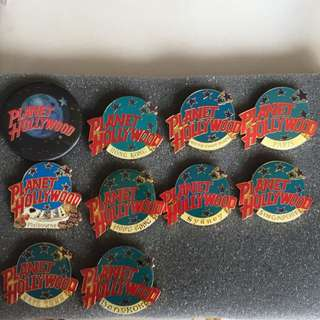 10 Planet Hollywood Pins