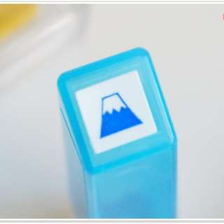 ❀日貨❀kodomo no kao手帳印章-富士山藍色