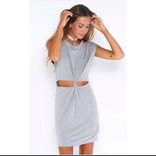 Grey Cute Dress
