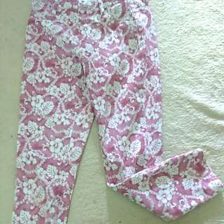 Uniqlo Floral Pink Jeggings