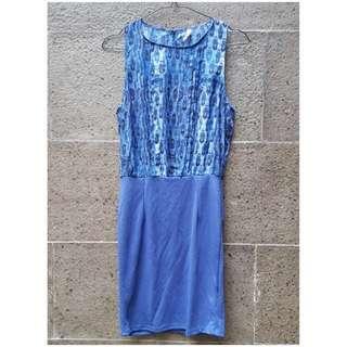 Preloved Stradivarius Blue Dress