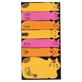 ❀日貨❀Gakken便條紙 手帳便條紙-螢光色貓咪