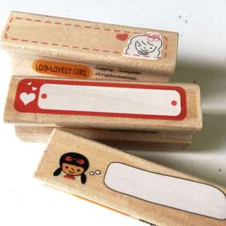 Wooden Mounted Rubber Stamps
