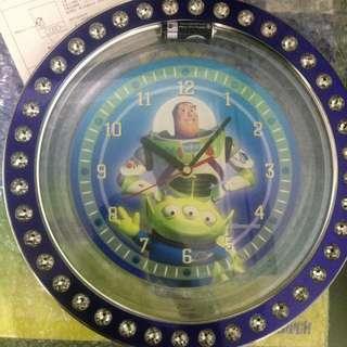 迪士尼 玩具總動員 巴斯 三眼怪 時鐘