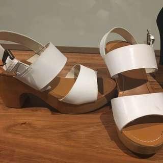 White Sandal Rubi Shoe Wedge Heel