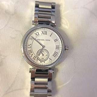 Michael Kors Skylar Silver Dial Stainless Steel Ladies Watch