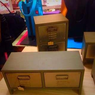 Hong-YI 全新復古鐵鏽收納盒 (黑.金)兩色