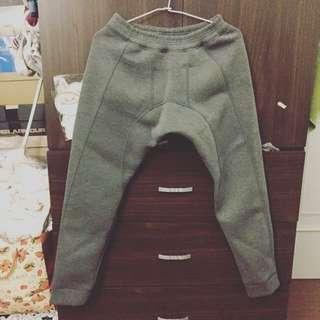 太空棉 縮口褲 灰色