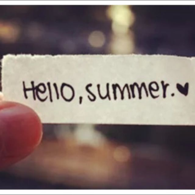 夏天來了!😝