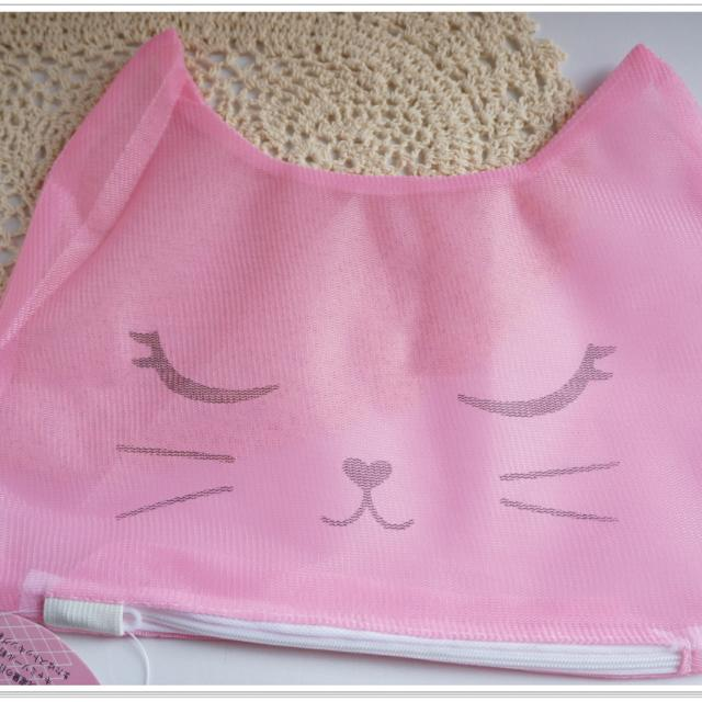 ❀日貨❀貼身衣物洗衣袋 洗衣網-貓咪粉色