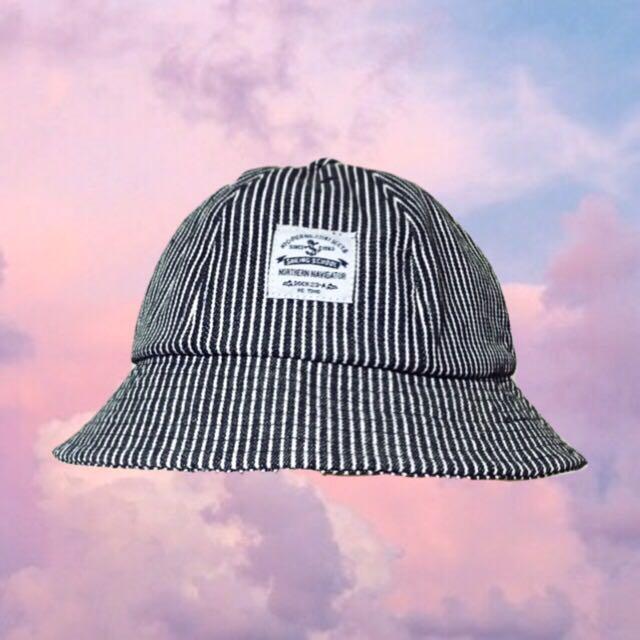 ♡漁夫帽♡ 條紋 黑白