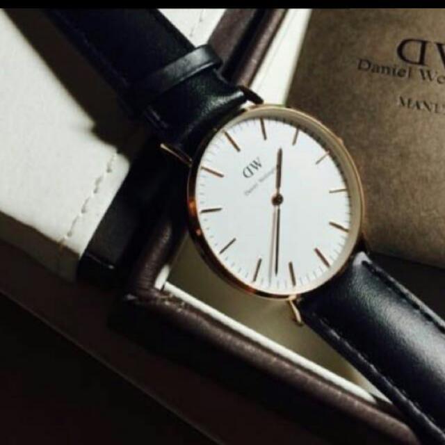 全新 DW 40mm真皮手錶