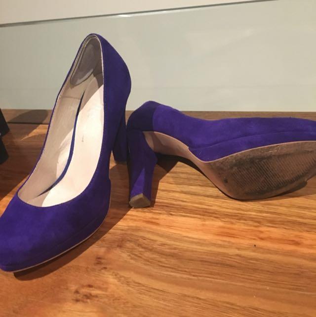 Air flex Purple Suede Platform heel