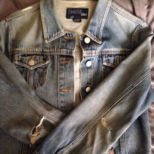 Denim Jacket Tagged Size 12 Will Fit 8-12