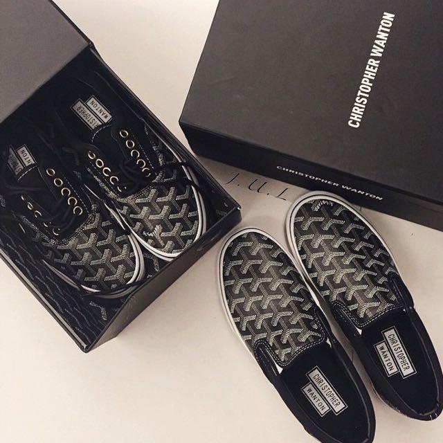 Goyard 翻玩訂製 Christopher Wanton X Vans 懶人鞋 休閒鞋 綁帶