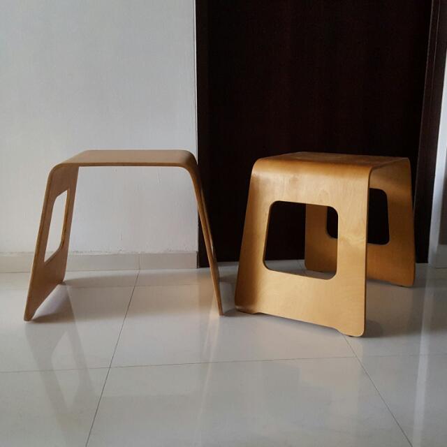 ikea benjamin stool hack furniture on carousell