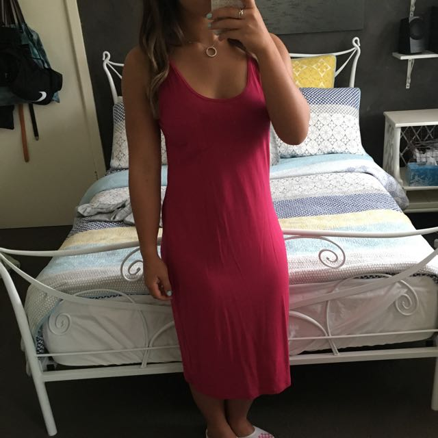 Long Dark Red dress