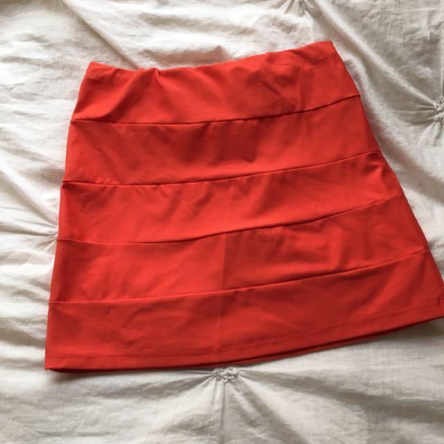 Orange Skirt Like Kookai