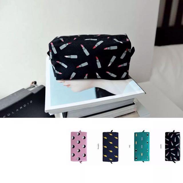 OX PUNCH方形帆布化妝包