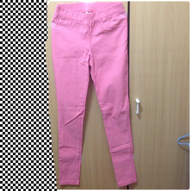(二手)粉色PAZZO彈力緊身褲