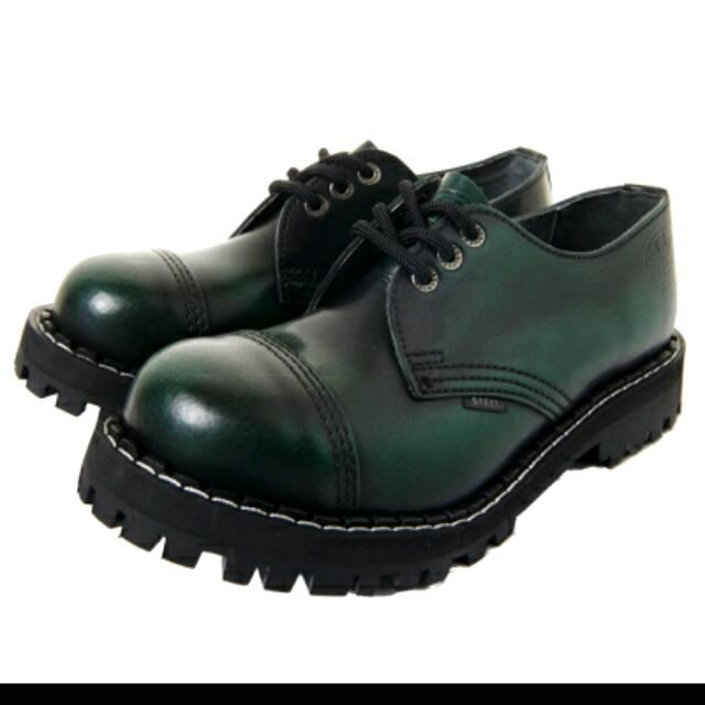 Steel boots歐洲3孔鋼頭鞋(墨綠24.5/39/6uk)