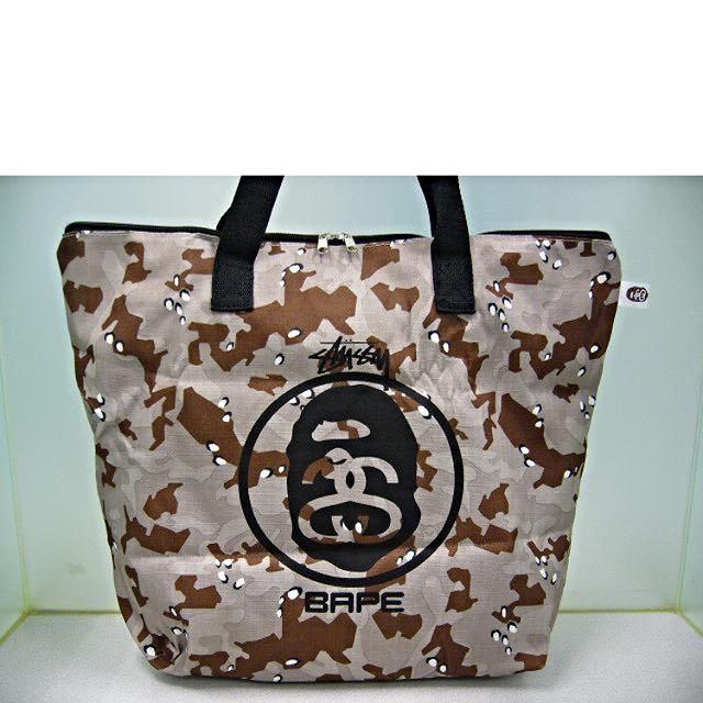 2a484ae9ff22 Stussy x A Bathing Ape Bape Desert Camo Camouflage Shoulder Bag ...