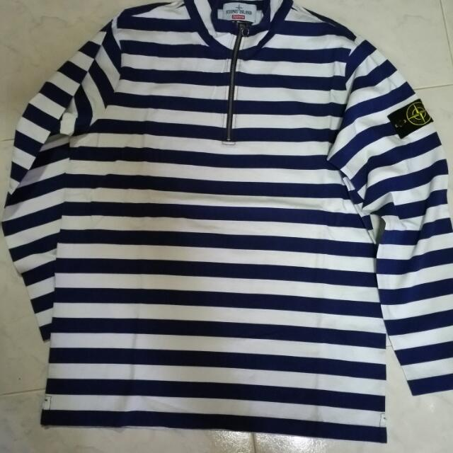 3e17cc2275 Supreme x Stone Island 1/4 Zip Long Sleeves Top, Men's Fashion on ...