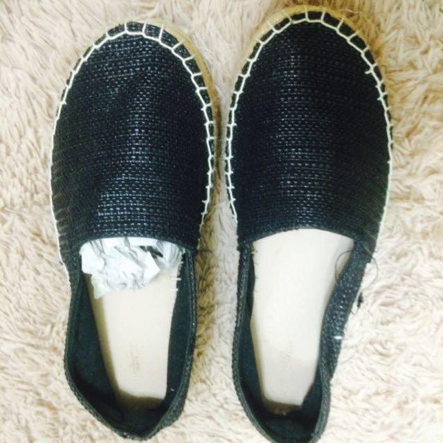 ZARA 36號 厚底 編織 平底 懶人鞋