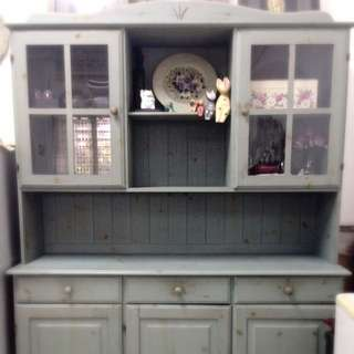 {{LAST CaLL}}Pale Blue Green Country Kitchen Cabinet