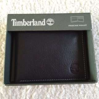 Timberland 經典logo黑色短夾