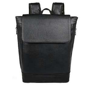 River Island Black Minimal Faux Leather Bag / Bagpack / Backpack