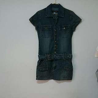 J&F JEANS合身收腰顯瘦造型牛仔裙,可搭內搭褲,牛仔褲