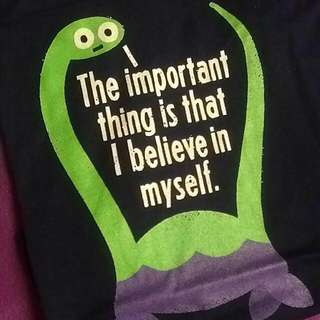 BRAND NEW THREADLESS TEE NESSIE LOCH NESS SELF ASSURANCE