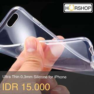 Case Ultra Thin 0,3mm Casing Silicone For Iphone 4 4s 5 5s SE 6 6s 6+ 6s+
