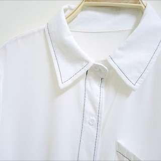 (現貨+預購)車線 可愛襯衫 可把當作遮陽罩衫