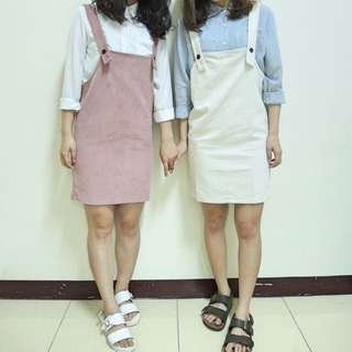 (現貨+預購)超可愛 燈芯絨 吊帶裙 !少女心爆發