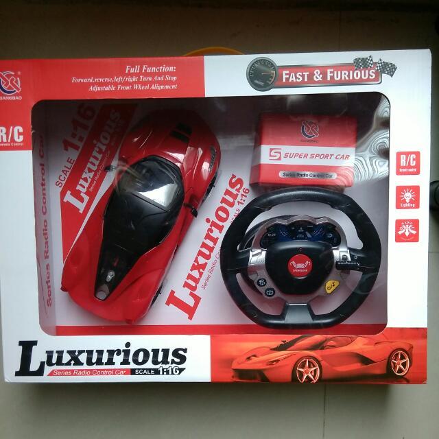 【全新】無線遙控車-充電式1:16(附多功能音樂方向盤)-兒童節最佳禮物🎁