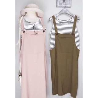 (現貨+預購)兩件式 吊帶 長裙 三色