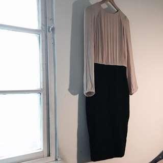 ZARA 奧黛莉赫本復古風格雪紡紗連身套裝