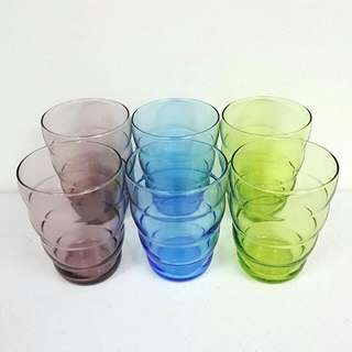 5件 彩色水杯 曲線杯